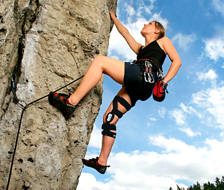 Climber with Prosthetics